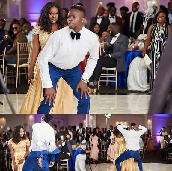 See look on this bride's face when groom decided to scatter dance floor