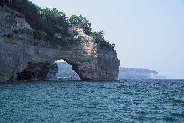 Panoramic views of beautiful Lake Michigan