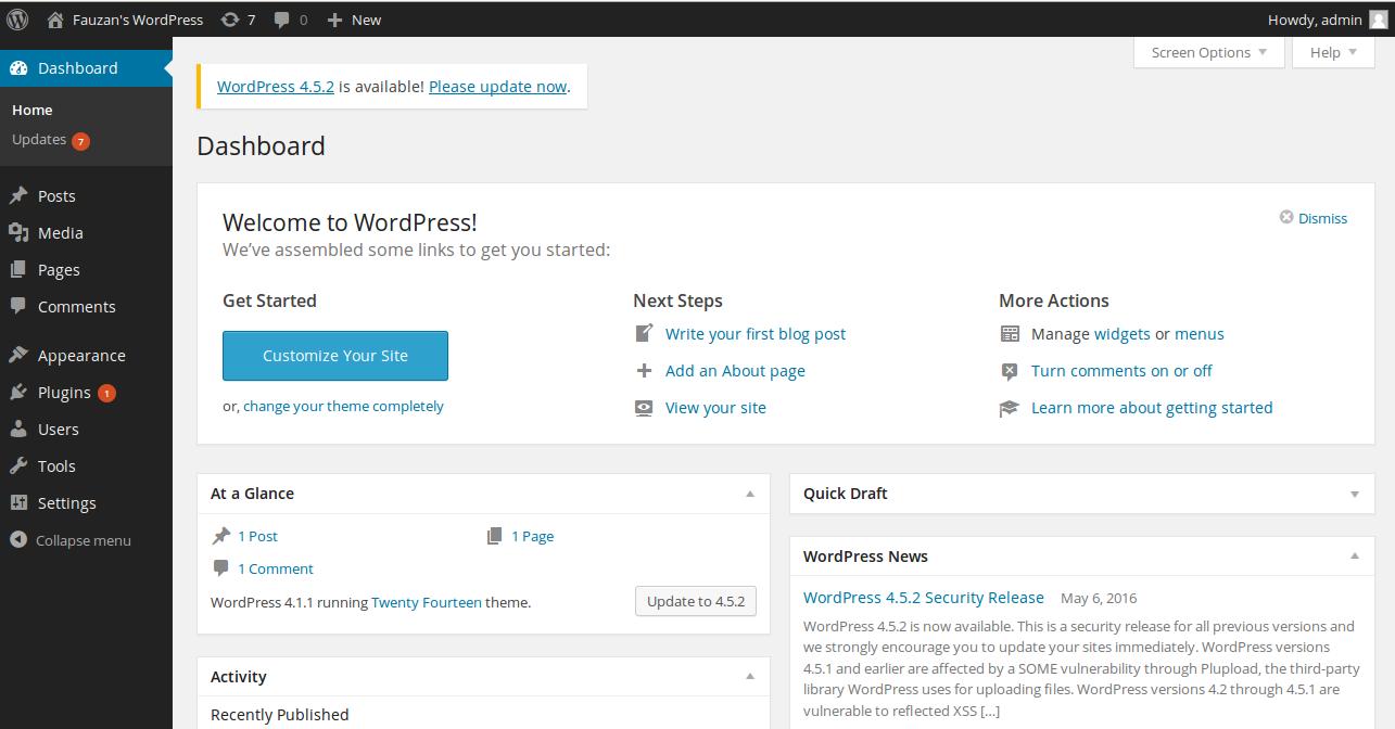 Mengganti Thema dari WordPress All about your Life