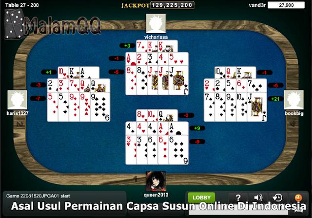 Asal Usul Permainan Capsa Susun Online Di Indonesia