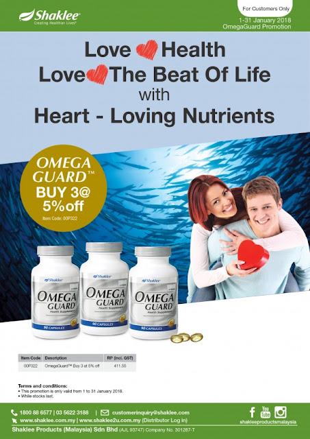 OMEGA GUARD, PROMOSI jan 2018, kesihatan kulit, kesihatan jantung, sendi, nutrisi ibu hamil