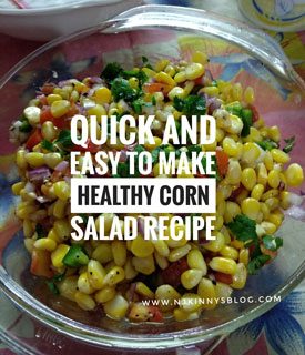 Quick and Easy to make Healthy Corn Salad Recipe- Njkinny's Blog