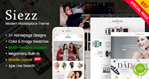 Siezz is a great theme for online store on mobile devices