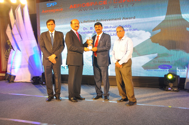 Mr BVR Mohan Reddy Founder  Executive Chairman Cyient receiving Lifetime...
