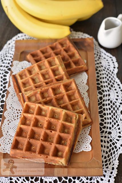 crispy banana bread waffles
