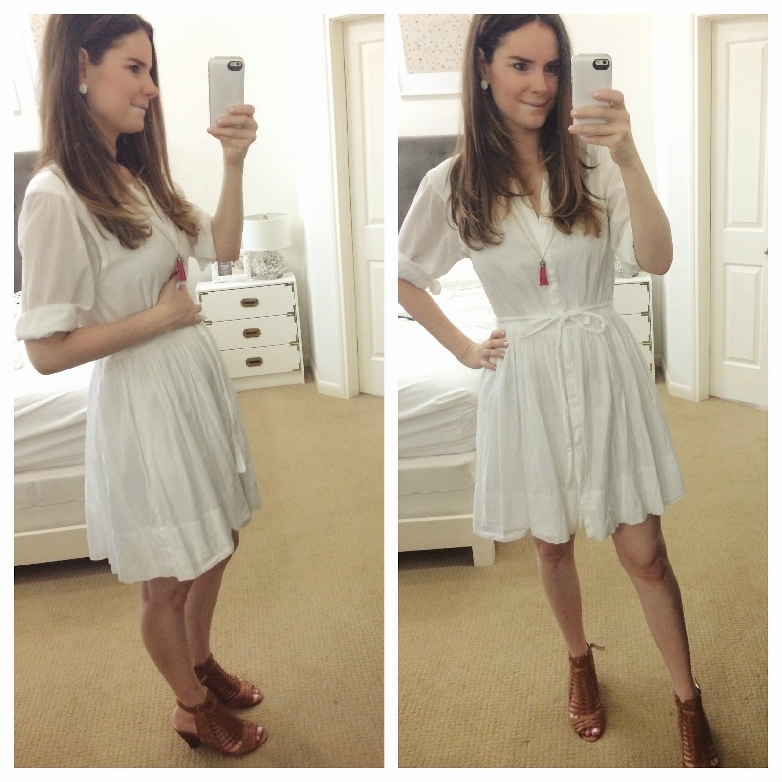 Veronika's Blushing: Simple White Dress