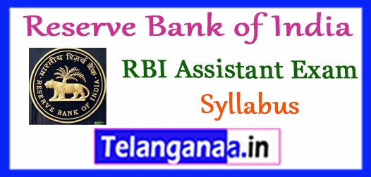 RBI Reserve Bank of India Assistant Prelims 2018 Syllabus Expected Cut Off