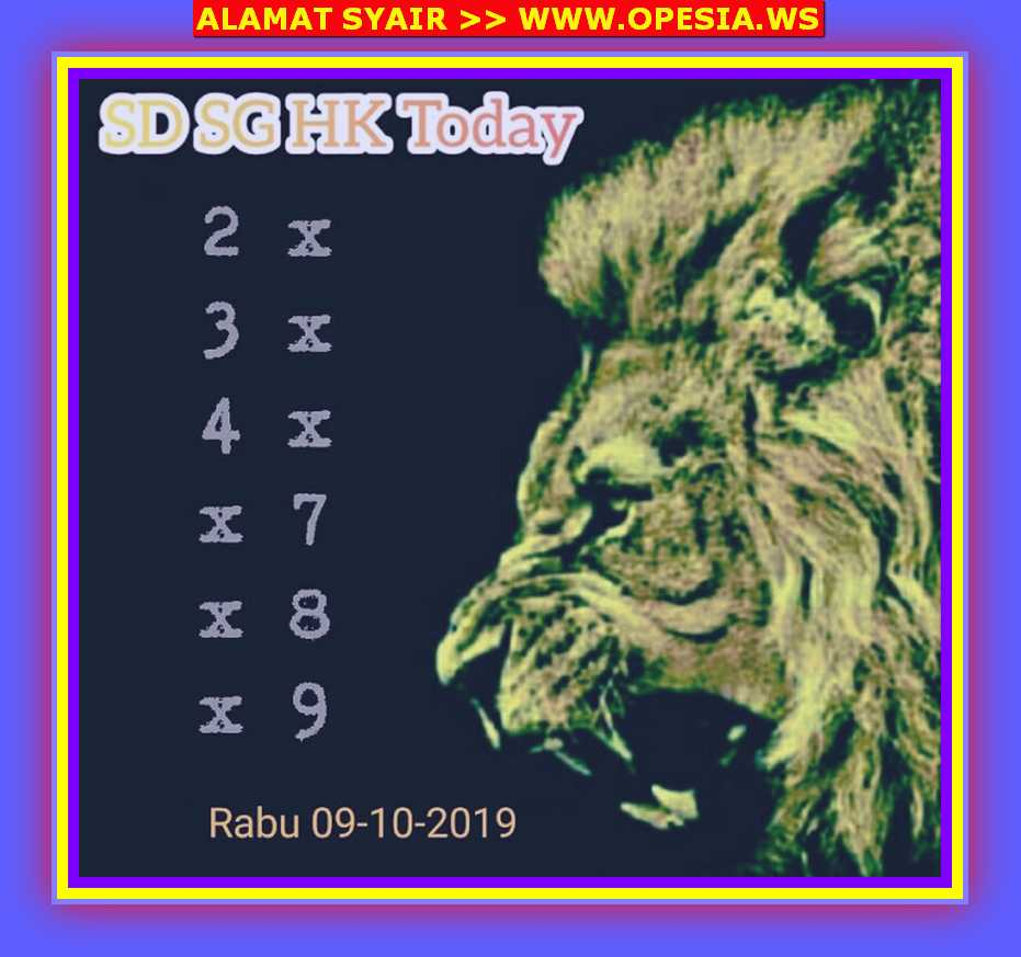 Kode syair Singapore Rabu 9 Oktober 2019 22