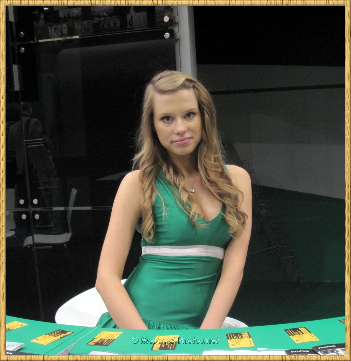 Green Dress Promo Model