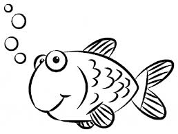 Cute Goldfish Coloring Sheet For Print