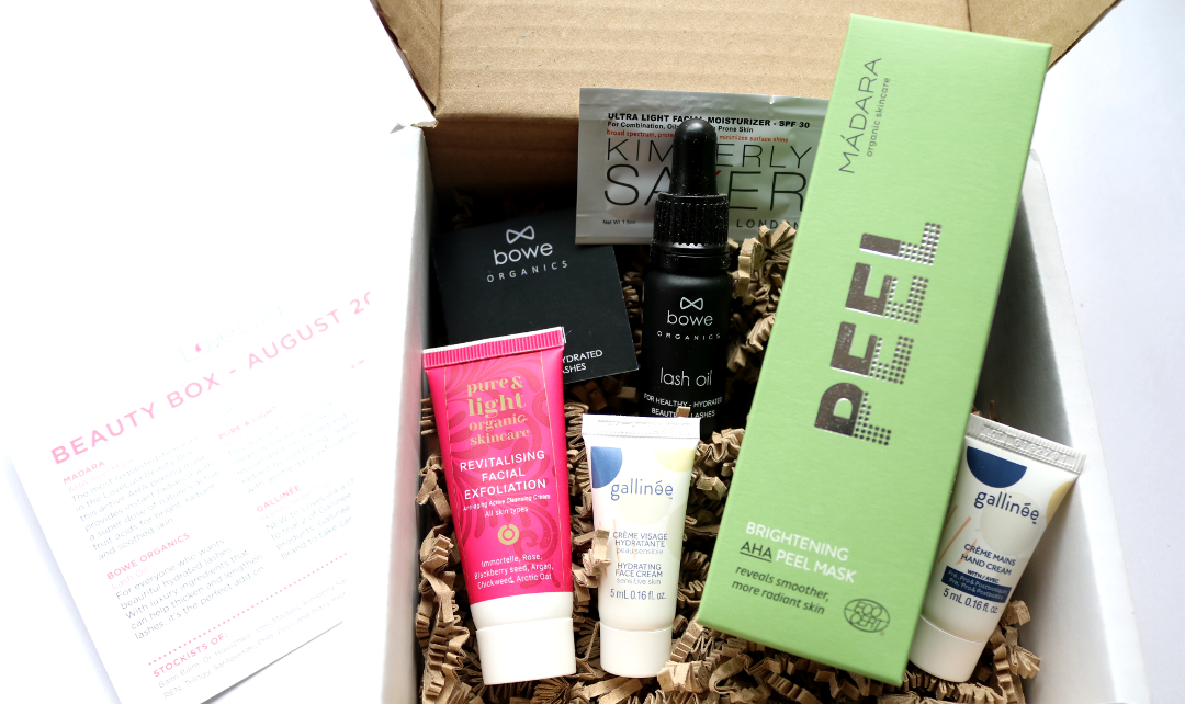 LoveLula Beauty Box - August 2018 review