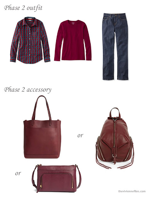adding a bag to a capsule wardrobe