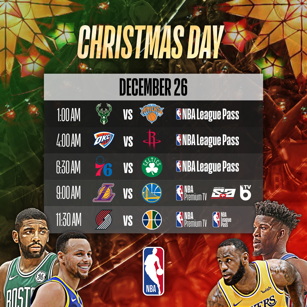 Nba Christmas Day Schedule.Livescores Ph Nba Set For Christmas Day Schedule