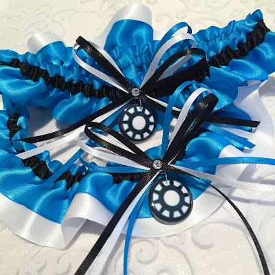 Iron Man Wedding Garter Set by Sugarplum Garters