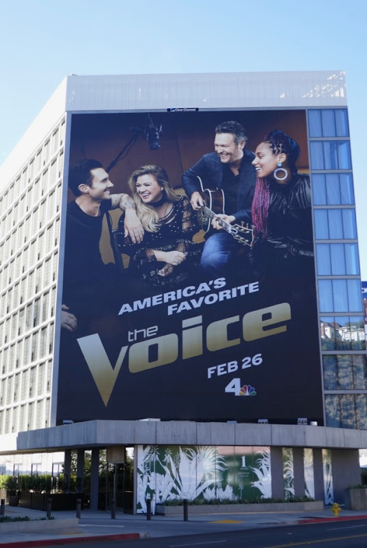 Voice giant season 14 billboard Sunset Strip