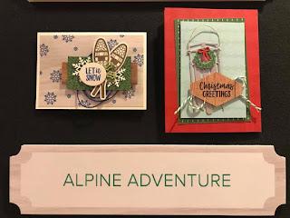Stampin' Up! Alpine Adventure  ~ Christmas ~ 2018 Holiday Catalog Sneak Peek ~ Alaska Cruise Display Board