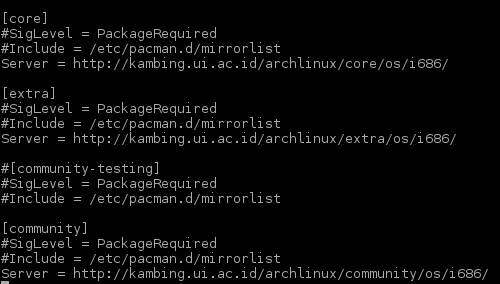 How to set up Archlinux Repository Manually