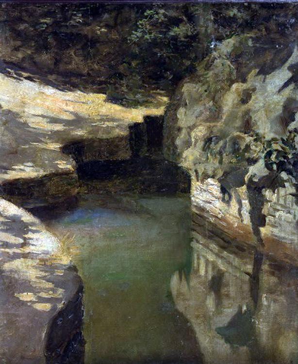 El canal, Cuadros en el Estudio, Enrique Martínez Cubells, Pintor español, Pintores españoles, Martínez Cubells, Retratos de Enrique Martínez C