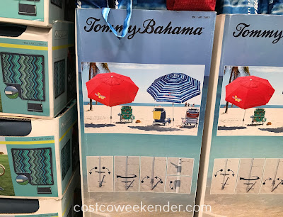 Get some shade away from the sun with the Tommy Bahama Beach Umbrella