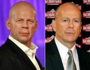 Escultura de cera de Bruce Willis