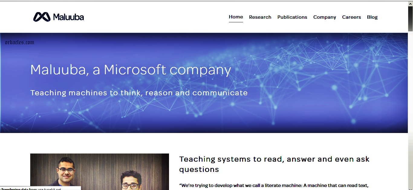 Microsoft's cornerstone is on A I ? With Reading,Writing and