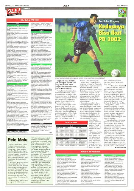 BRASIL DAN URUGUAY BISA IKUT PIALA DUNIA 2002