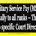 7th CPC : No specific Court direction for Military Service Pay (MSP) equally to all ranks - Rajya Sabha reply