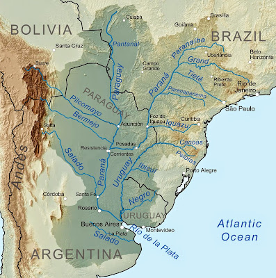mapa do Rio Paraná