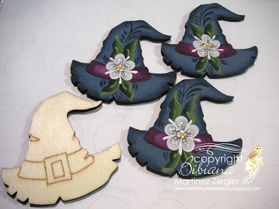 rosemaling witch pins