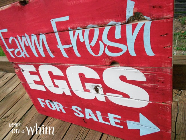 Farm Fresh Eggs Pallet Sign from Denise on a Whim