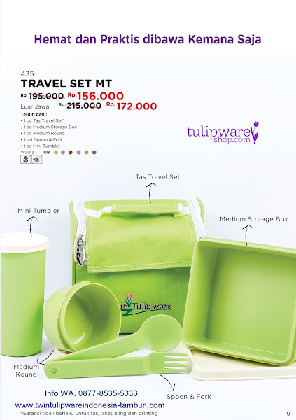Promo Diskon Tulipware Mei 2018, Travel Set MT