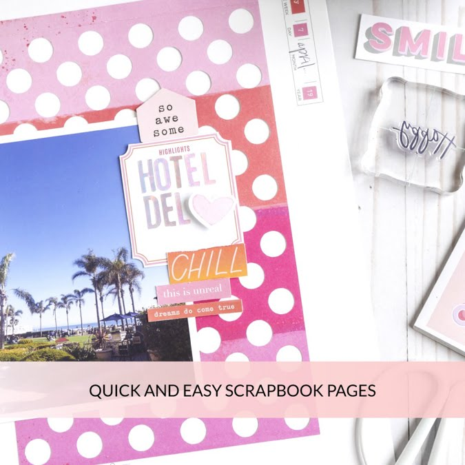 Heidi Swapp Storyline Quick and Easy Scrapbook Page by Jamie Pate | @jamiepate for @heidiswapp
