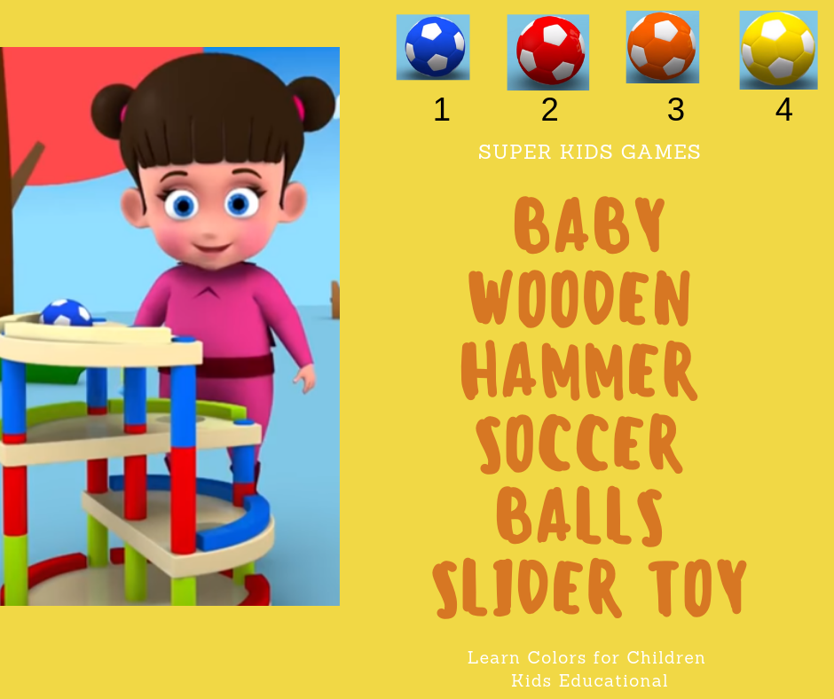Funny videos: Little Baby Wooden Hammer Soccer Balls Slider