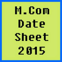 University of Azad Jammu and Kashmir M.Com Date Sheet 2017 Part 1 and Part 2