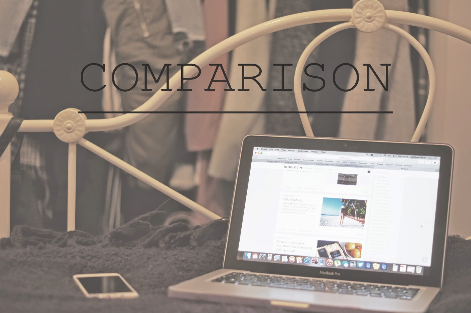 COMPARISON ADVICE BLOGGERS FULL TIME