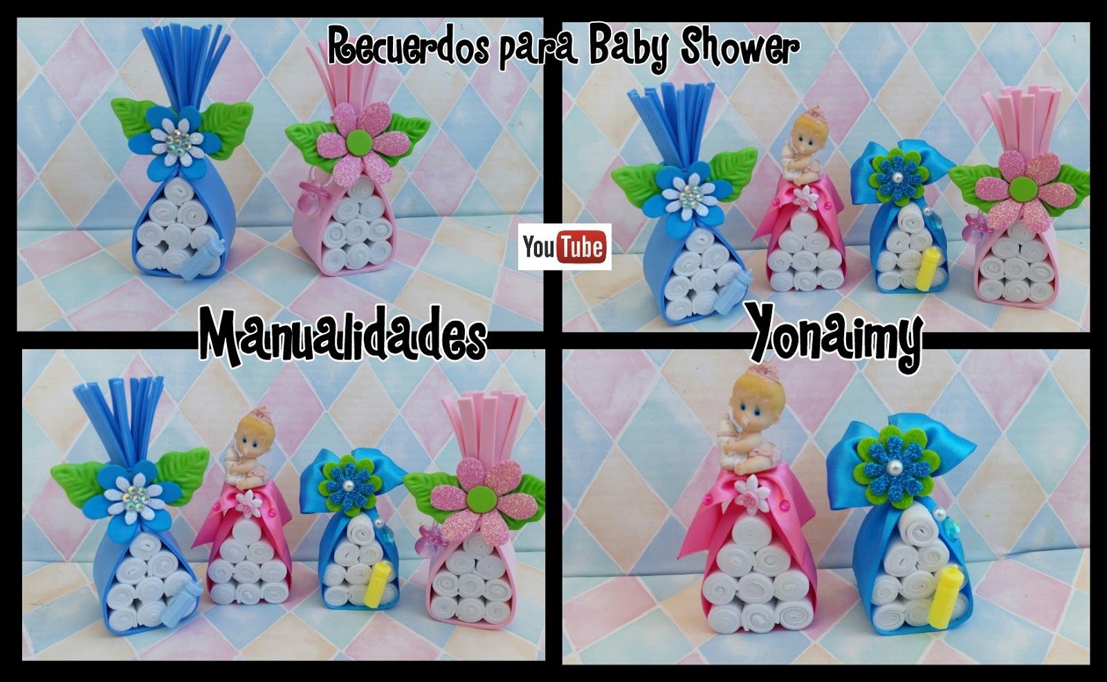 Manualidades yonaimy for Novedades para baby shower