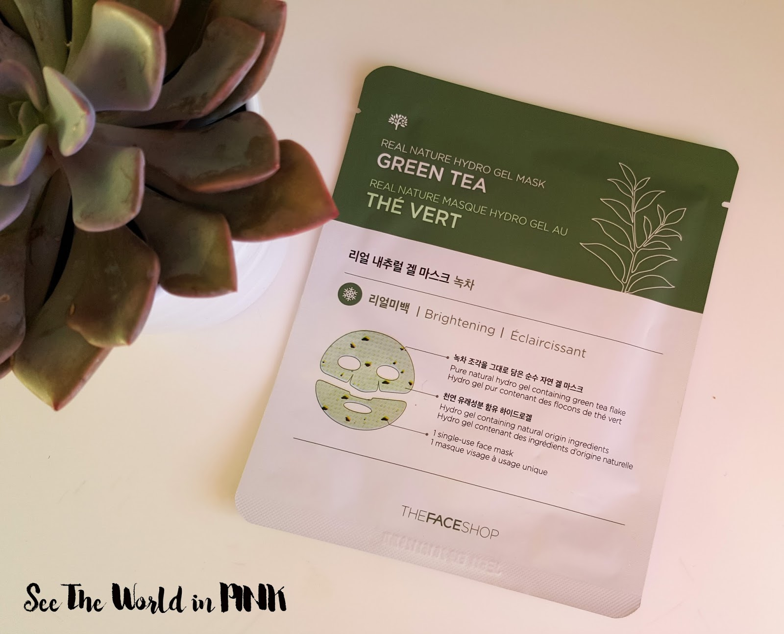 THEFACESHOP Real Nature Green Tea Hydro Gel Mask