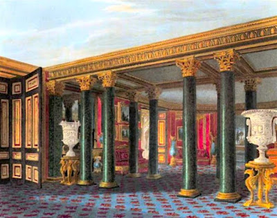 Lower Vestibule, Carlton House, from The History of the Royal Residences by WH Pyne (1819)