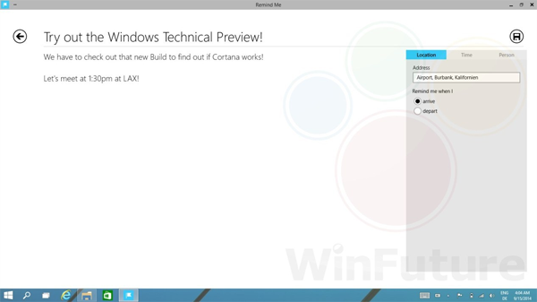 Microsoft Cortana For Windows 9