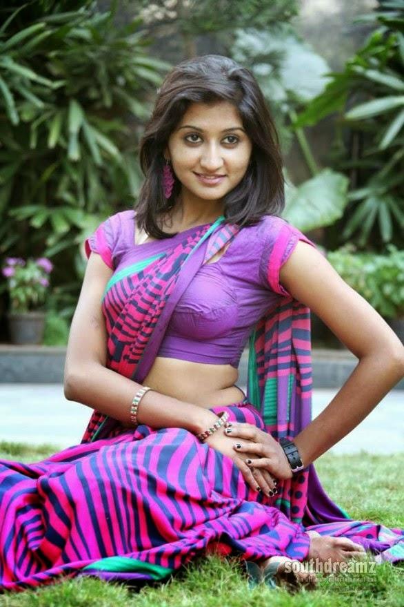 South Indian Actress Akshaya Hot In Saree Blouse Boob -1822
