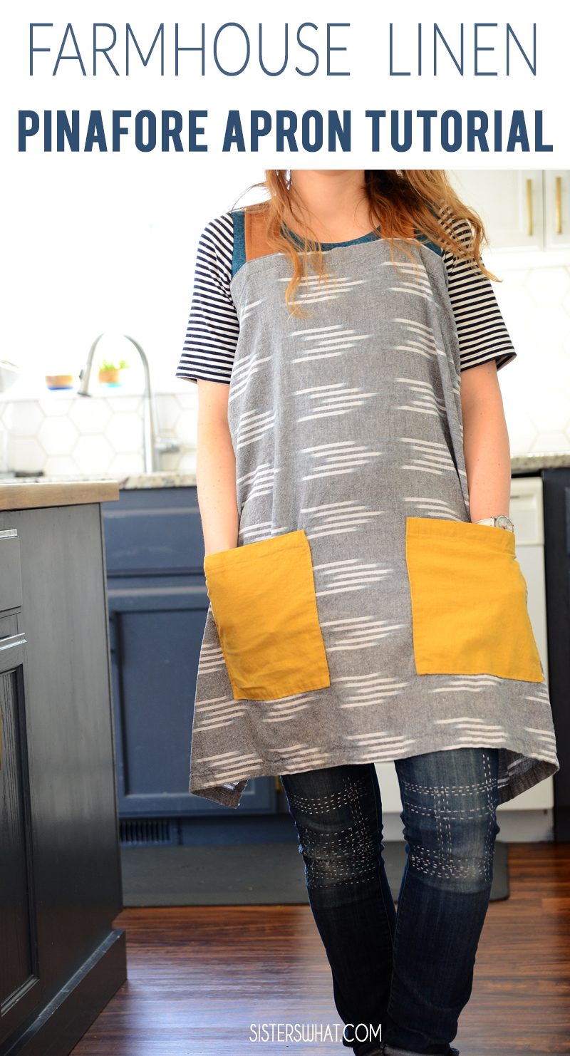 DIY Apron farmhouse pinafore style apron tutorial