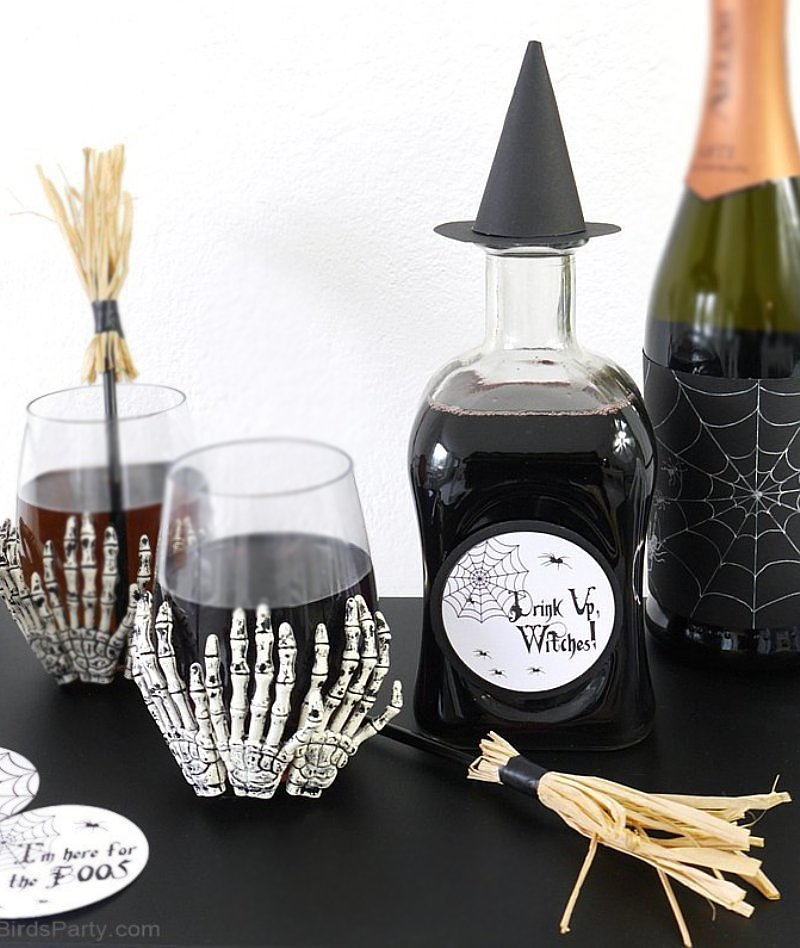 image relating to Printable Glassware identified as Uncomplicated Uncomplicated Halloween Social gathering Crafts with Cost-free Printables
