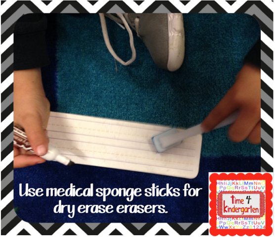 use medical sponges for dry erase board erasers