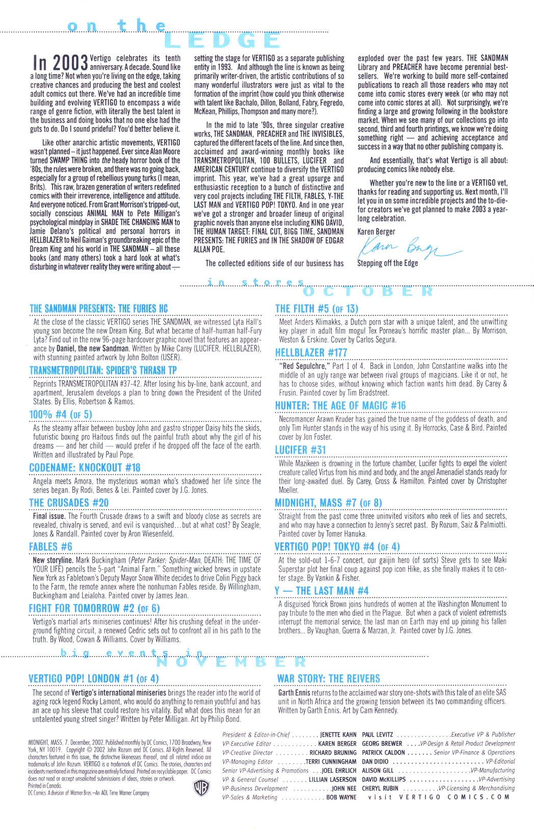 Read online Midnight, Mass comic -  Issue #7 - 22