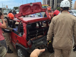 Em Cabedelo, um motorista sofre acidente após acabar de se envolver em outro