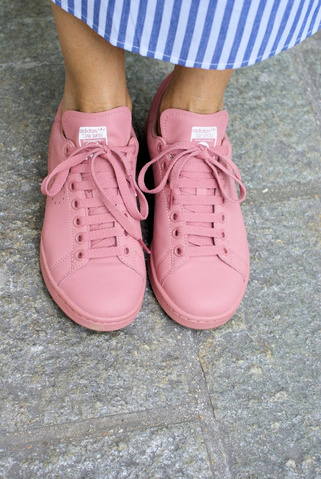 Pink Adidas Stan Smith sneakers by Raf Simons on Fashion and Cookies fashion blog, fashion blogger style