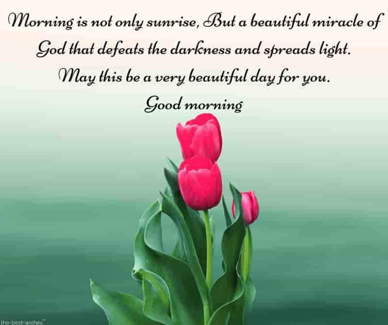 best good morning sms with flowers