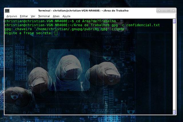 Criptografando um arquivo no Linux