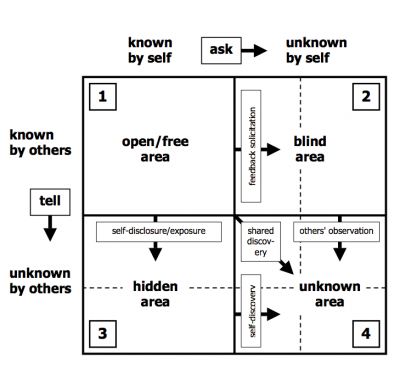 The johari window the 8th voyager for Window quadrant