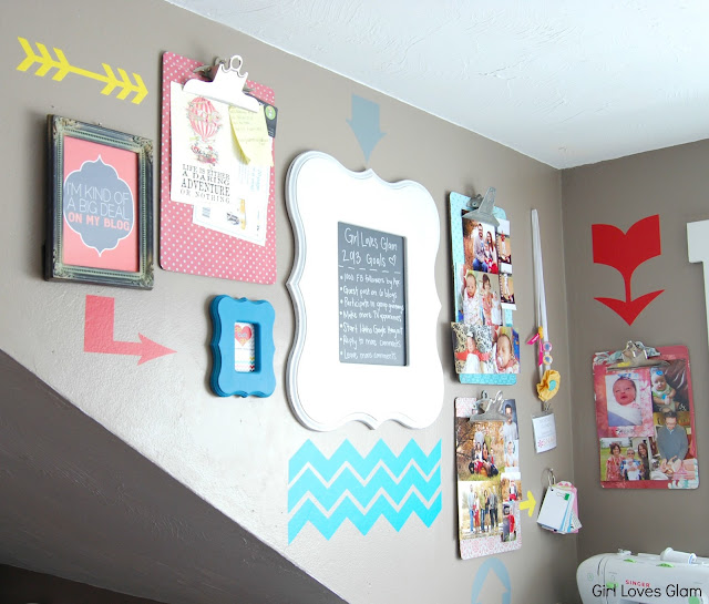 Bright Colorful Gallery Wall